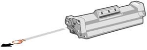 Снятие защитной ленты с картриджа