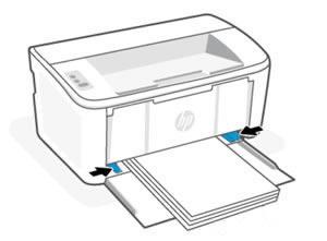 Kağıt genişliği kılavuzlarını içeri doğru kaydırma