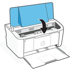 Ausrichten der Tonerpatrone an den Führungen im Drucker