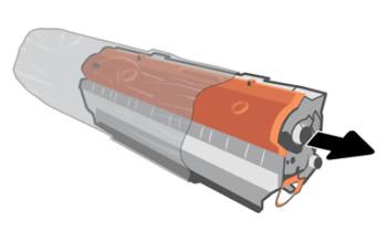 Extracción del cartucho de tóner del embalaje